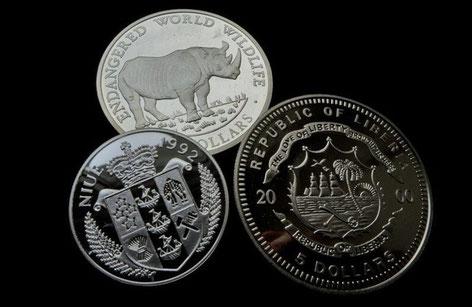 Lizenzprägungen (Pseudomünzen) aus Niue, Cook Islands und Liberia