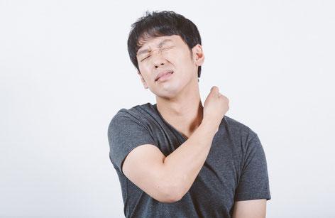 首の骨と骨の間隔が狭い奈良県香芝市の男性