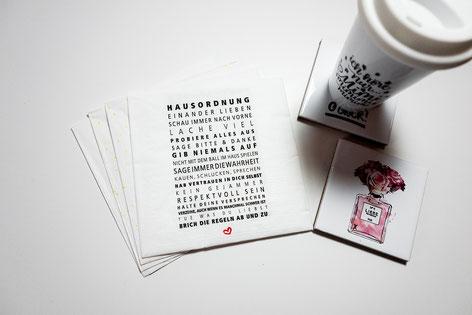 "Papierservietten ""Hausordnung"""