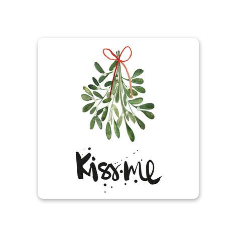 "Keramikuntersetzer ""KISS ME"""