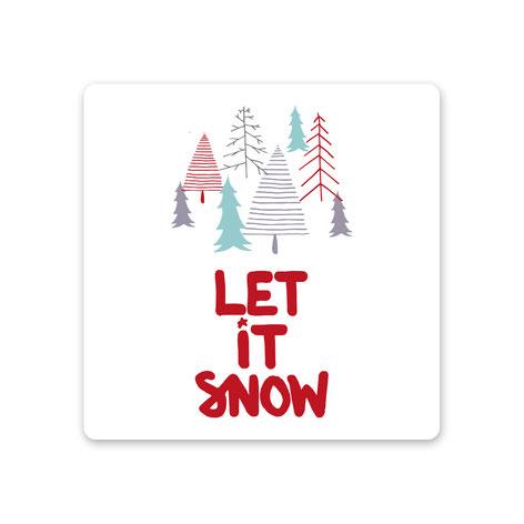 "Keramikuntersetzer ""let it snow"""