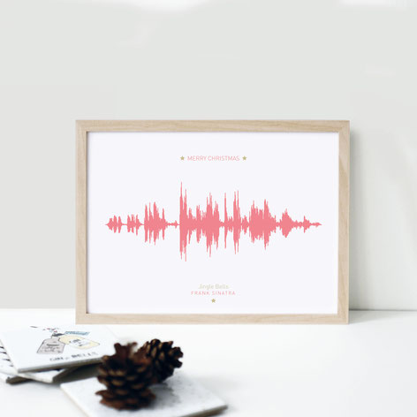 "Kunstdruck ""Weihnachtstonspur"" - Frank Sinatra | Jingle Bells"