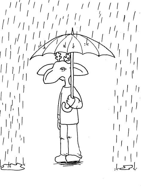 Nigel der Toffe steht im Regen...