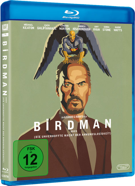 Birdman  - Bluray - 4 Oscars - Michael Keaton - 20th Century Fox - kulturmaterial
