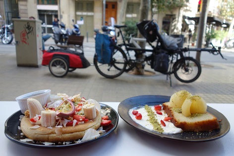 Barcelone Brunch and Cake Tandem bike