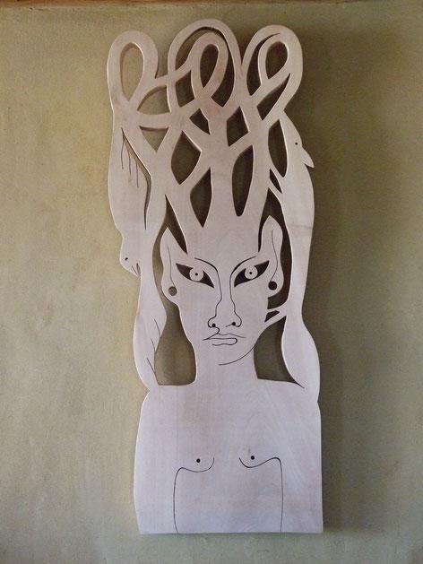 Le Faune.  Platane. 2014. (103x41 cm). Vendu.