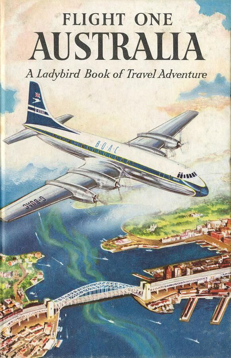 BOAC poster, Sydney Harbour, 1958