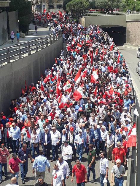Primo maggio 2018, Beirut (Libano)