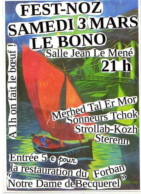 Sterenn - Fest-Noz au profit du Forban - Salle du Mené au Bono le samedi 3 mars 2018 à 21h