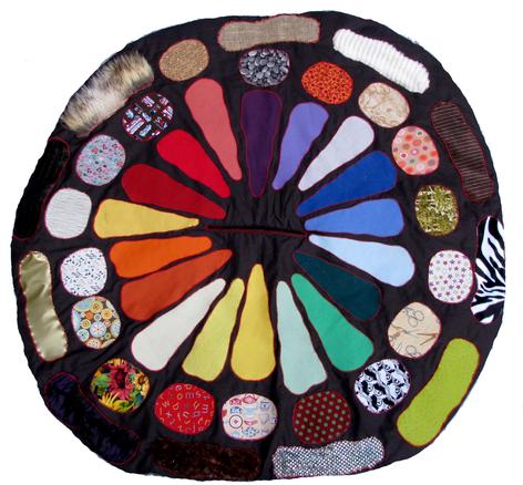 """Tapis """"Cousette à Conter"""" : Les couleurs, les formes, les matières"""