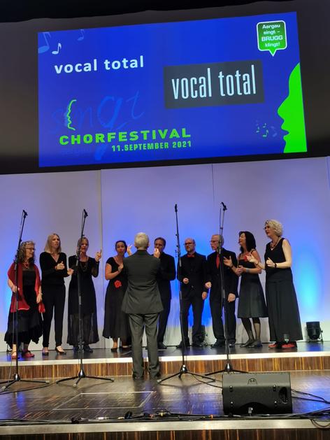 Klein aber fein: Unsere A cappella -Formation vocal total.