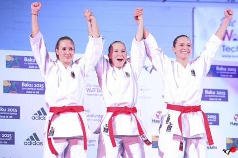 Endlich Weltmeister - Bei der Heim WM in Bremen setzten sich Sophies Team gegen die Favoritinnen  aus Japan durch