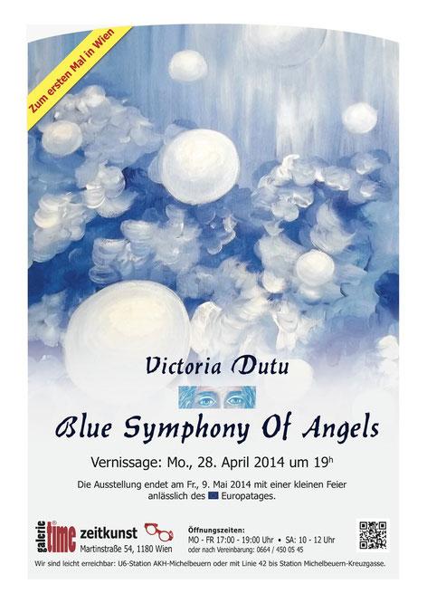 Galerie Time Victoria Dutu Günther Wachtl Blue symphony of angels Rumänien