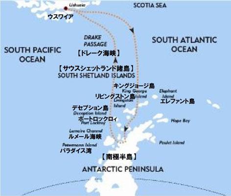 南極半島地図