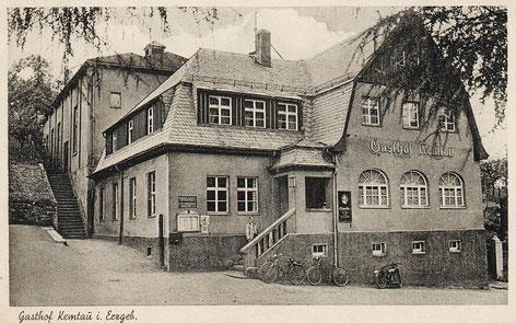 Der Gasthof mit Saal im Jahre 1941