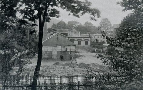 Der Bau des E-Werkes 1904 Quelle: Bildarchiv der Gemeinde Burkhardtsdorf
