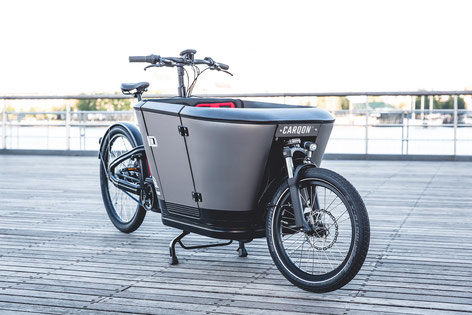 Carqon Cargo e-Bike in der e-motion e-Bike Welt in Münster