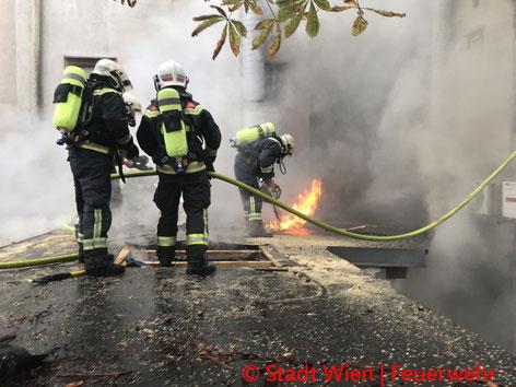 Feuerwehr; Blaulicht; Berufsfeuerwehr Wien; Bim; Straßenbahn; Leitung; LKW;