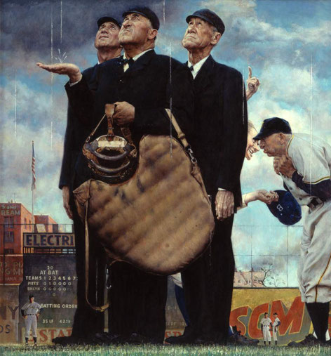 Norman Rockwell (1894-1978)|Tough Call