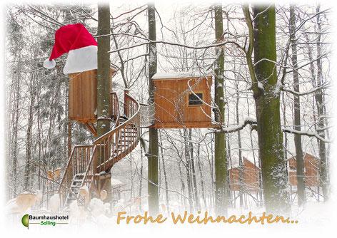 Baumzelt Weihnachten, Bild: Baumhaushotel Solling.