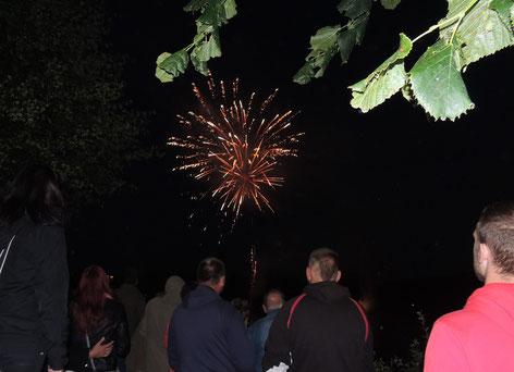 Zu Hunderten zog es die Menschen zum Feuerwerk an den Schlosssee