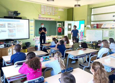 Intervention scolaire à Verberie (60), avec l'appui du SDIS