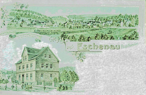 Postkarte: Gasthaus Musick Eschenau