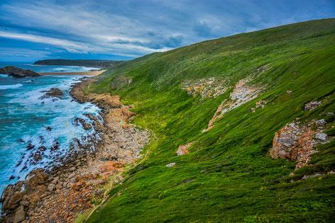 Beeindruckende Landschaft auf der Robberg-Halbinsel