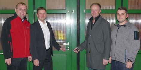 Foto von links nach rechts: Ortmeier Christian, 1 Bgm. Dr. Windhorst Tobias, Weggartner Thomas, Rietschl Markus