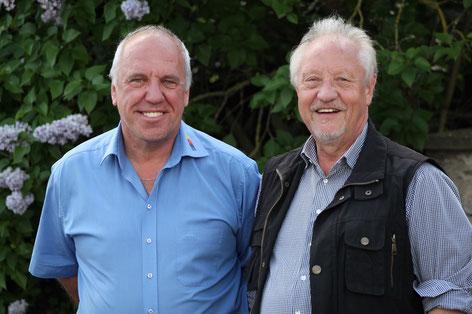 Auf dem Bild: (v.l.) BDR Vizepräsident Günter Schabel mit Geburtstagskind Hans Kuhn