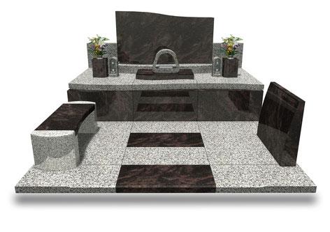 デザイナーズ墓石MemoireMaChereオロル