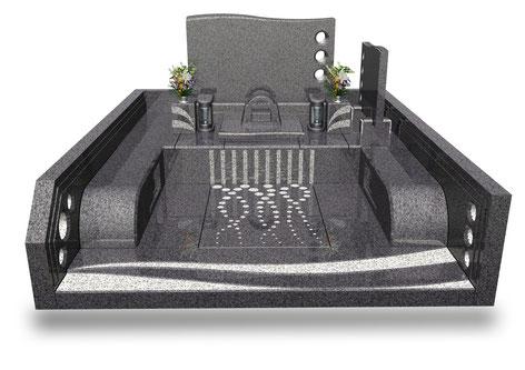 デザイナーズ墓石MemoireMaChereラ・メールⅡ