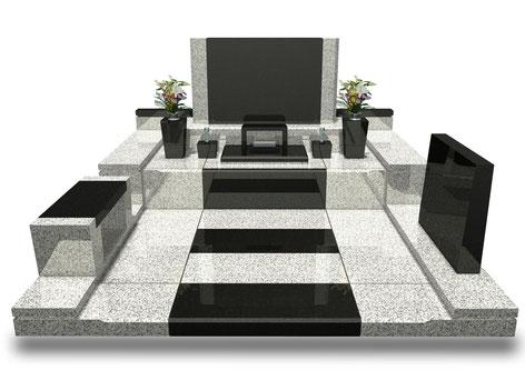 デザイナーズ墓石MemoireMaChereラ・ルミエール