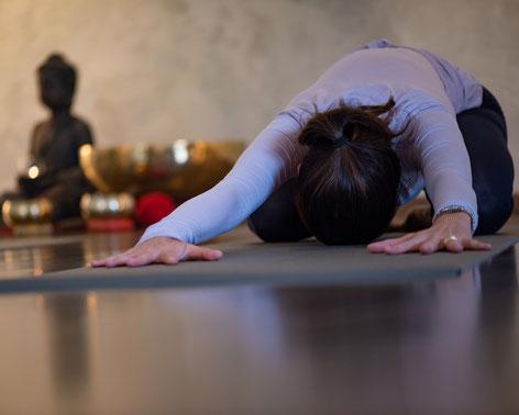 Yoga + Meditation gegen Stress