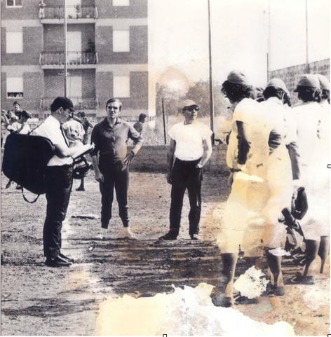 La gara a Caserta il 4 giugno del 1972 campo Puccianiello con un giovane Rotili Manager e Umpire Dodde.