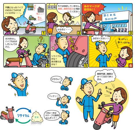 自動二輪車リサイクル 漫画