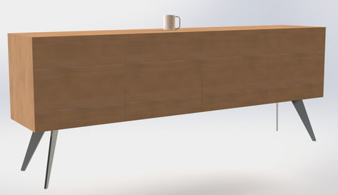Proposition design pour relooking buffet par www.piedtable.fr