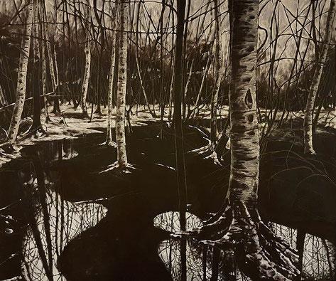 Waldansicht     1,20 x 1,00 m     Acryl auf Leinwand  / acrylic on canvas
