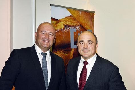 M. Dominique ANRACT (à droite), Président de la CNBPF et M. Stéphane LACROIX (à gauche), Président de la CSFL. Crédit photos Frédéric Vielcanet