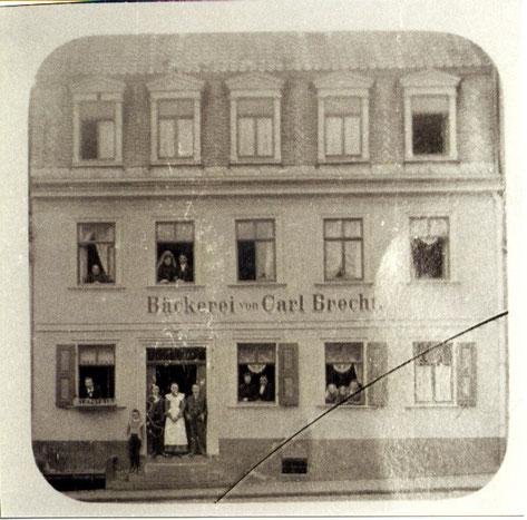 Bäckerei Carl Brecht, Postplatz, vor 1904