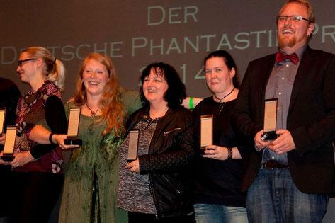 Preisverleihung Deutscher Phantastikpreis - Gaby ist in der Mitte :)