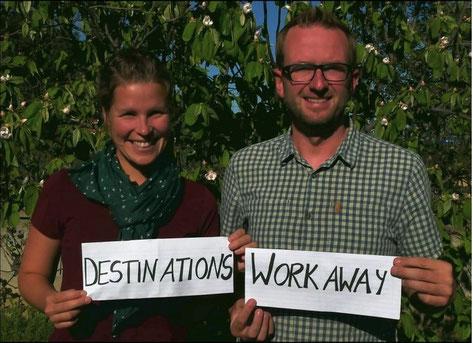 Anja Gabriel und Manuel Liebig bieten DestinationsWorkaway an