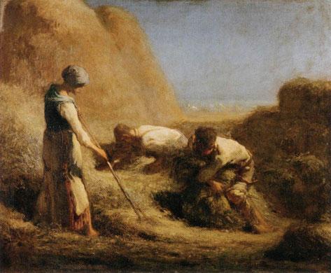 《刈り入れ人たちの休息》1850-1853年