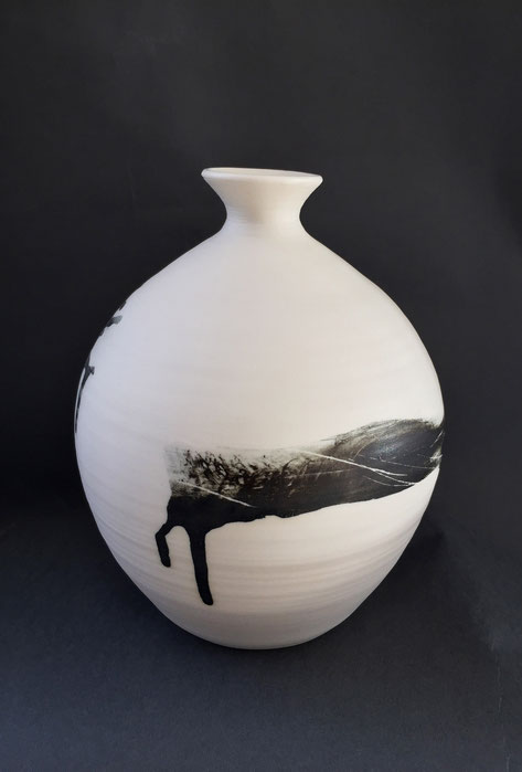 Vase porcelaine H20 cm Dia 17 cm