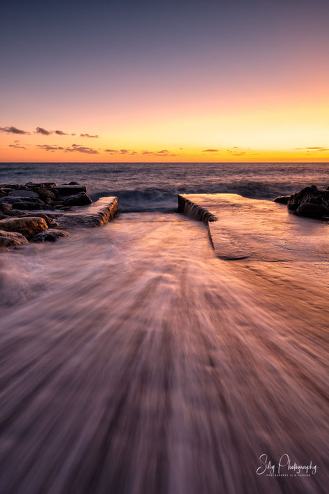 Italien / Ligurien / Cinque Terre / Deiva Marina, Langzeitbelichtung, Sonnenuntergang, 2019, ©Silly Photography