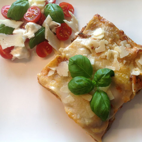 Lasagne Bolognese met Bechamelsaus.