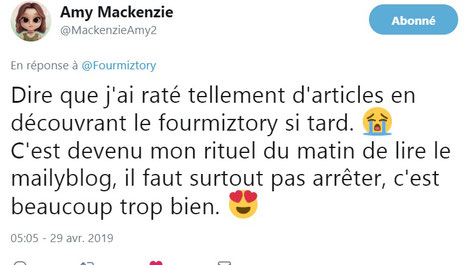 Commentaire twitter #MailyBlog !