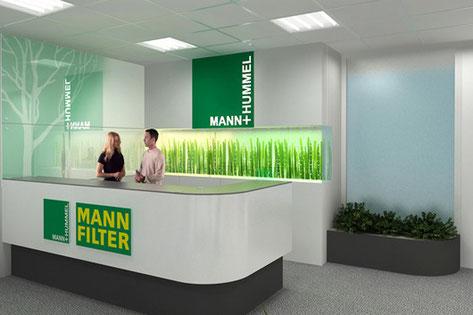 Входная зона офиса MANN FILTER