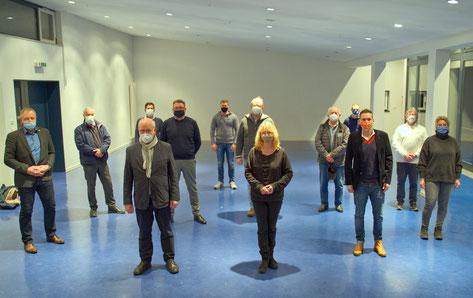 Bildunterzeile: Unter besonderen Bedingungen hat die CDU-Bad Hersfeld im Bürgerhaus Heenes ihre Liste für die Kommunalwahl 2021 verabschiedet