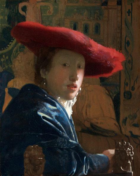 Самые известные картины Яна Вермеера - Женщина в красной шляпе